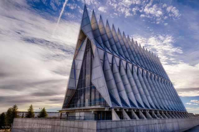 Air Force Academy - Chapel - Colorado - Usa